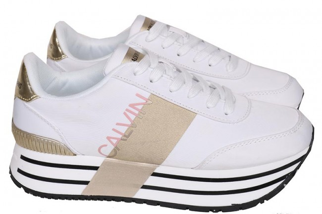Calvin klein - dames sneakers wit