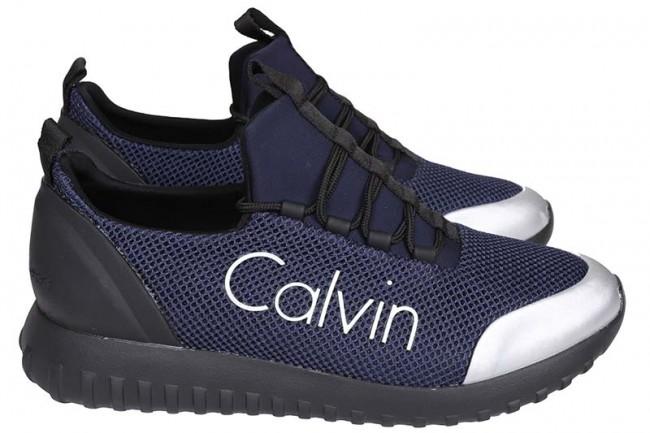 Calvin klein - heren sneakers blauw