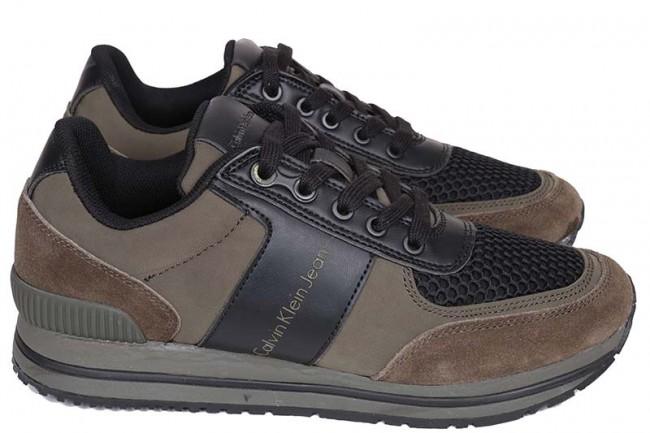 Calvin klein - heren sneakers groen
