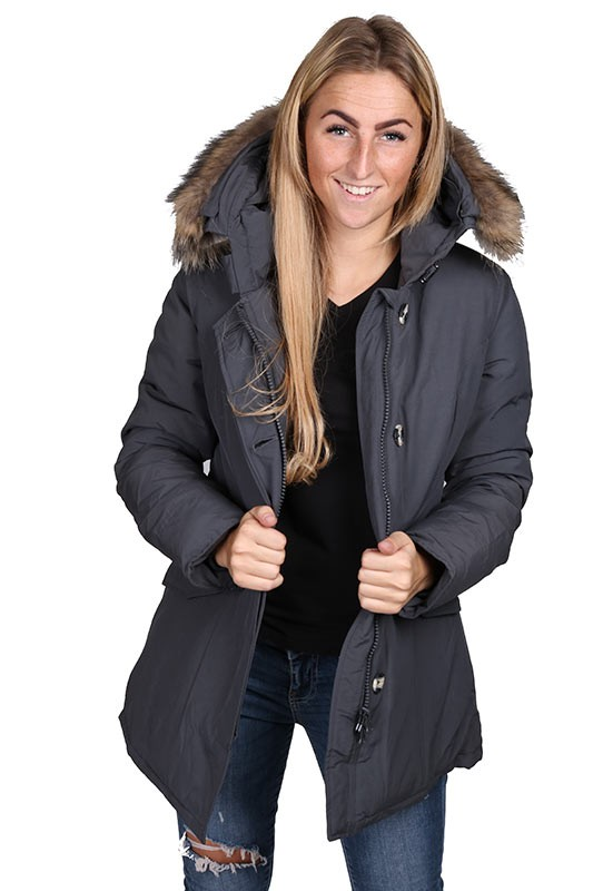 Airforce winterjas parka grijs