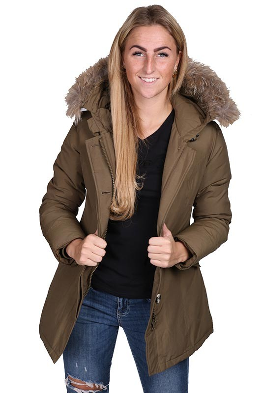 Airforce winterjas parka groen