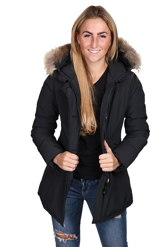 Airforce winterjas parka zwart